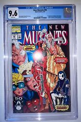 New Mutants 98 Cgc 9.6 First Deadpool White Pages