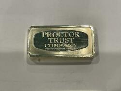 The Franklin Mint Proctor Trust Company Sterling Silver Bar