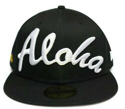 Fitted Hawaii Aloha Black 59fifty 7 1/8 Not Farmers Market 808allday In4mation