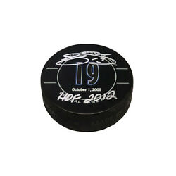 Joe Sakic Signed Colorado Avalanche Retirement Night Official Game Puck-hof 2012