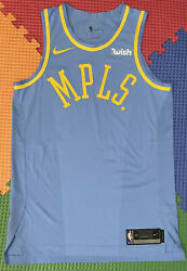Lakers Kobe Bryant Size 46+2 Mpls Nike Authentic Pro Cut Jersey Blank Wish Patch