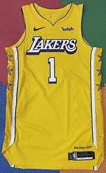 Lakers Team Issued Kentavious Caldwell-pope 48+6 Authentic Pro Cut Jersey Lord