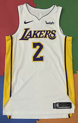 Lakers Team Issued Size 46+4 Rookie Lonzo Ball Authentic Pro Cut Jersey Nike