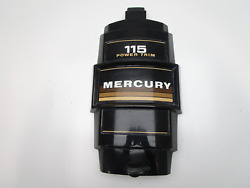 Mercury Outboard 6 Cylinder 115 Power Trim Front Cowling Cover 80and039s Black/brown