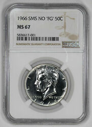1966 Sms No And039fgand039 Kennedy Half Dollar 50c Ngc Certified Ms 67 Mint Unc 001