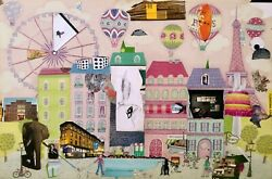 Paris Insight Pink And Green Collage Elephant Painting - Steven Tannenbaum Tao-e