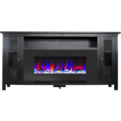 Cambridge Somerset 70-in. Black Electric Fireplace Tv Stand With Multi-color Led