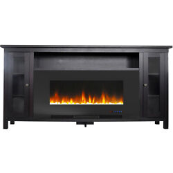 Cambridge Somerset 70-in. Dark Coffee Electric Fireplace Tv Stand With Multi-col