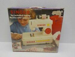 Singer Lockstitch Sewing Machine Vintage Childs With Pedal Case And Box Works