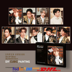 [super Junior] - Diy Cubic Painting The Renaissance + Photocard Official Md