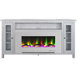 Cambridge Somerset 70-in. White Electric Fireplace Tv Stand With Multi-color Led