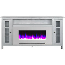 Cambridge Cambridge Somerset 70-in. White Electric Fireplace Tv Stand With Multi