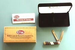 2005 Case Knife Tiny Trapper Apache Gold Pearl Inlaid 2 Blade Nos Ex2154 Ss Nice