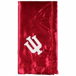 Indiana Hoosiers Silky And Super Soft Plush Baby Blanket, 28 X 28