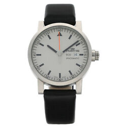 Fortis Eco Spacematic 626.22.159 Steel 40mm Leather Swiss Quartz Menand039s Watch
