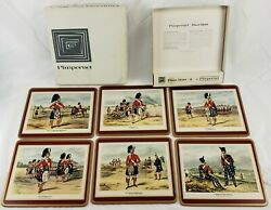 Pimpernel Placemats Celluware Scottish Uniforms Set Made In Great Britain Mint