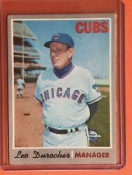 1970 Topps Leo Durocher 291 Chicago Cubs Baseball Card Hof Manager New Top Load