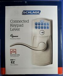 Schlage Fe599nx Cam 619 Nexia Z-wave Connected Keypad Nickel Lever New, Open Box