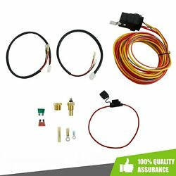 Dual Electric Cooling Fan Wiring Install Kit 165/185 Thermostat 50 Amp Relay