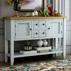 Us Buffet Sideboard Console Table With Bottom Shelf Blue/gray/white/espresso