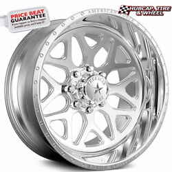 American Force Sprint Ck08 Concave Polished 30x16 Truck Wheel 8 Lug Set Of 4