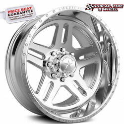 American Force Vision Ck09 Concave Polished 30x16 Truck Wheel 8 Lug Set Of 4