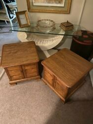 Ethan Allen Record Cabinets / End Tables / Nightstands 2