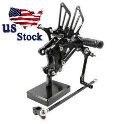 For Yamaha Yzf R125 2008-2012 2013 Cnc Aluminum Rearsets Footpegs Rear Set Us