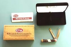 2005 Case Knife Tiny Trapper Apache Gold Pearl Inlaid 2 Blade Nos