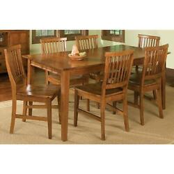 Home Styles Arts And Crafts 7 Piece Dining Set Oak