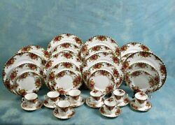 Royal Albert Old Country Roses Dinner Set Plate Salad Cup England First Edition