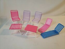Vintage Arco Barbie Lawn Lounge Chair Table Outdoor Furniture Pink Purple Blue