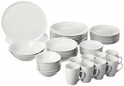 10 Strawberry Street 52 Pc Coupe Dinnerware Set, Service For 8, White,sm-5200-cp