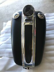 Harley Fxcwc Rocker C - Oem Black Gas Tank With Pin Striping And Dash