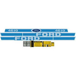 4610 Ford Tractor Complete Blue Decal Kit 4610 High Quality Decals 🎯