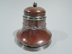 Inkwell - 6231 - Antique Inkpot - American Mixed Metal Sterling Silver
