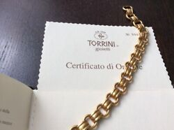 18k 1990and039s Torrini Gioielli Firenze Yellow Gold Bracelet Chain Made In Italy