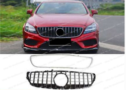 For 2015-2018 Mercedes Benz Cls-class W218 Gt Grill Grille W/ Silver Outer Frame