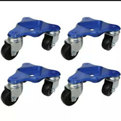 Mapp Caster 56403oh-4 Set Of 4 Heavy Duty Tri-wheel Dollies With 3 Wheels -