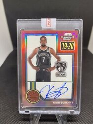 Kevin Durant 2019-20 Panini Contenders Optic Red Auto /25 - Nets