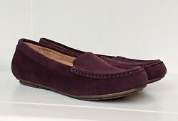 Vionic Womens Chill Debbie Violet Loafers Size 7 1636178 New In Box Classic
