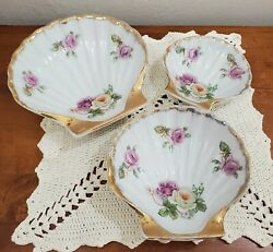 Berkshire China Occupied Japan Set Of 3 Shell Dishes 4/5/5 3/4
