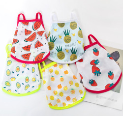 Pets Summer Clothes Breathable Mesh Condole Belt Vest Fruits Printing Small Dogs