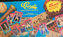 Vintage 1989 Classic Major League Baseball Board Game W/ 100 Cards Pete Rose Old