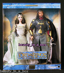 Arwen And Aragorn Barbie Doll Lord Of The Rings Ken Together Vg/exc