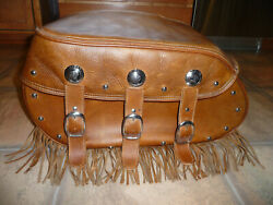 Indian 2014 Chief Vintage Distressed Tan Left Hand Lh Saddlebag Only Great Shape