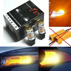 Hyper Flash Free Led Light W21w Amber Two Bulbs Rear Turn Signal Replace Upgrade