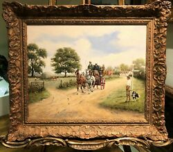 Oil Painting By A Fine Impressionist Artist 20th Century In A Gold Gilt Frame