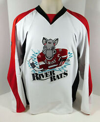 2009-10 Albany River Rats 12 Game Issued White Jersey Nameplate Removed 645