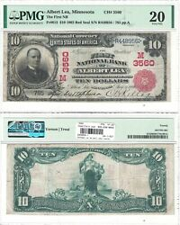 1902 10 First National Bank Of Albert Lea Mn 3560 Pmg Vf-20